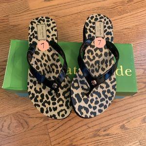 Kate Spade Milli Leopard Flip Flops